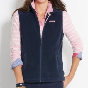 EUC Vineyard Vines Navy Fleece Vest